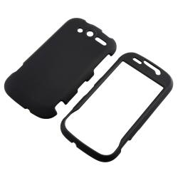 INSTEN Black Snap-on Rubber Coated Phone Case Cover for HTC myTouch 4G