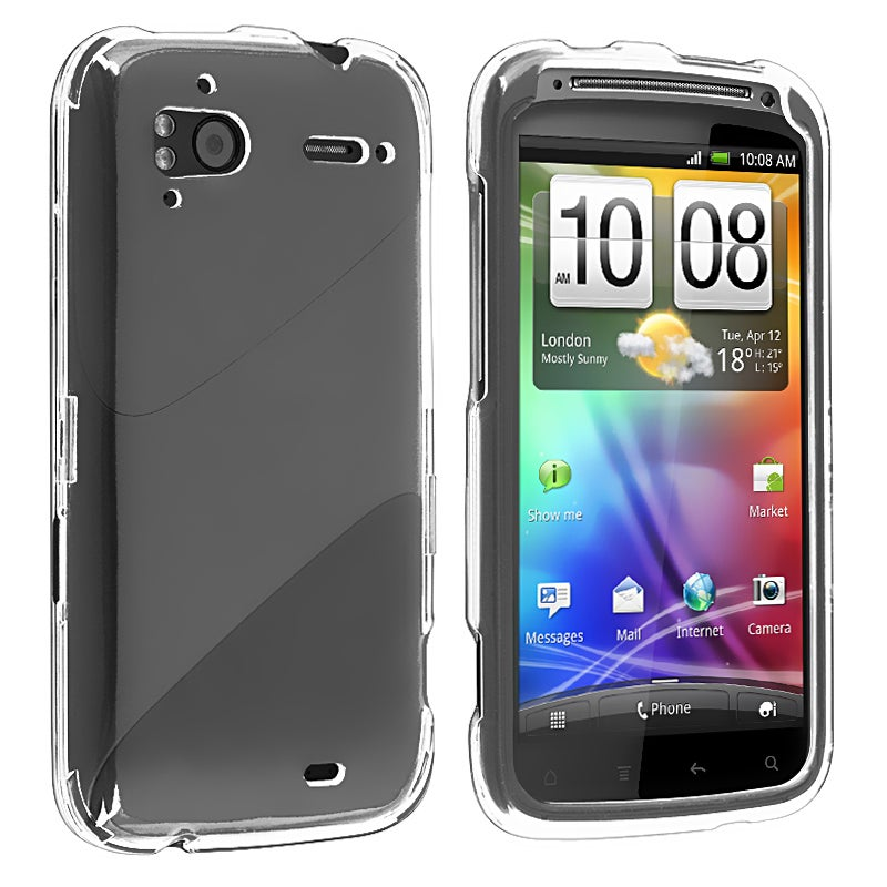 BasAcc Clear Snap-on Crystal Case for HTC Sensation 4G