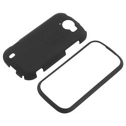 INSTEN Black Rubber Coated Phone Case Cover for HTC T-Mobile myTouch 4G Slide