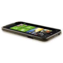 INSTEN Clear Smoke Argyle TPU Rubber Skin Phone Case Cover for HTC Titan