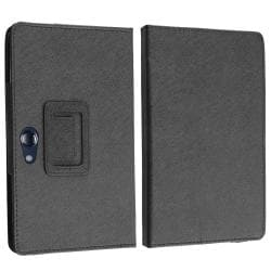 INSTEN Black Leather Phone Case Cover for Acer Iconia Tab A100 - Thumbnail 2