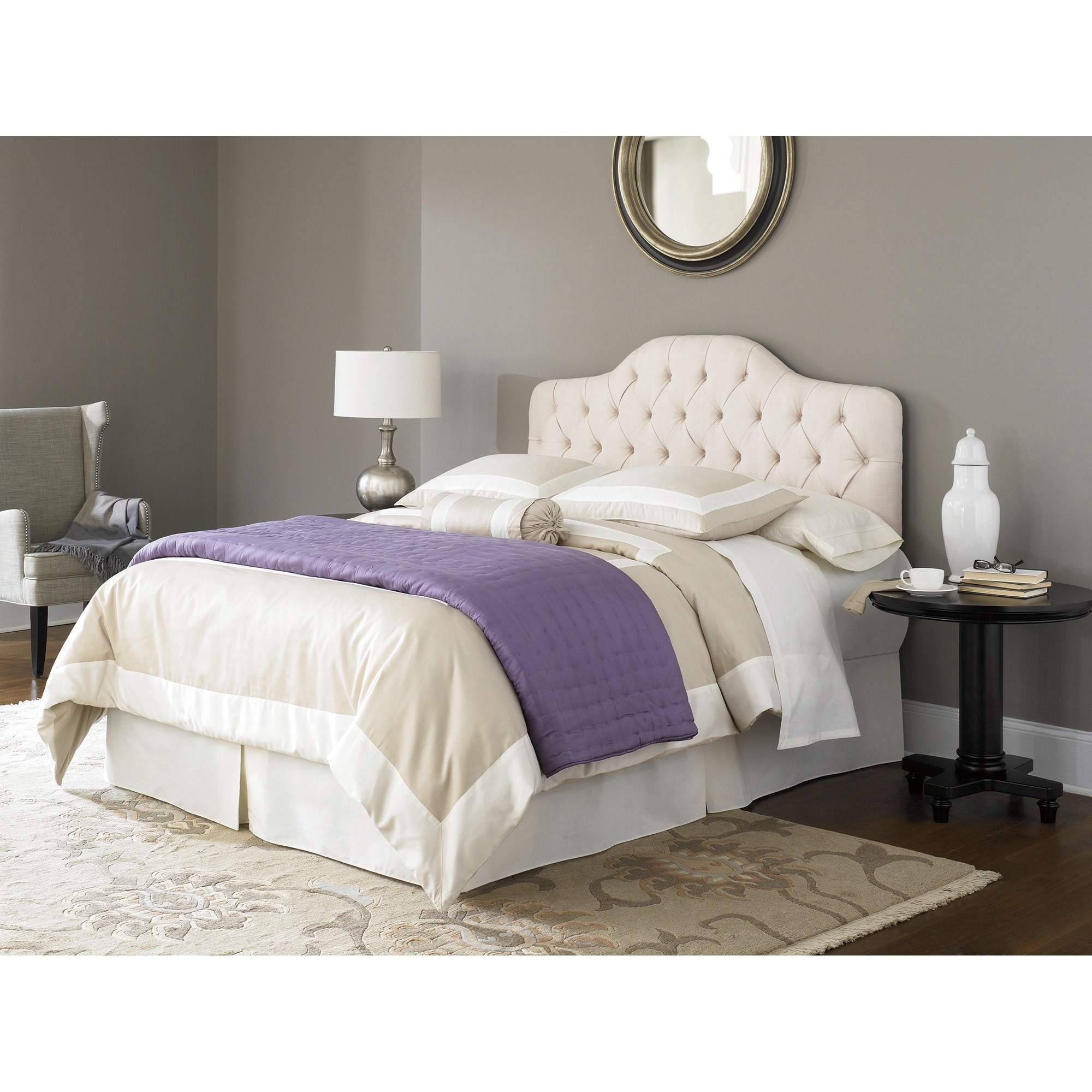 Fashion Bed Group Saint Lucia Ivory Upholstered Headboard...