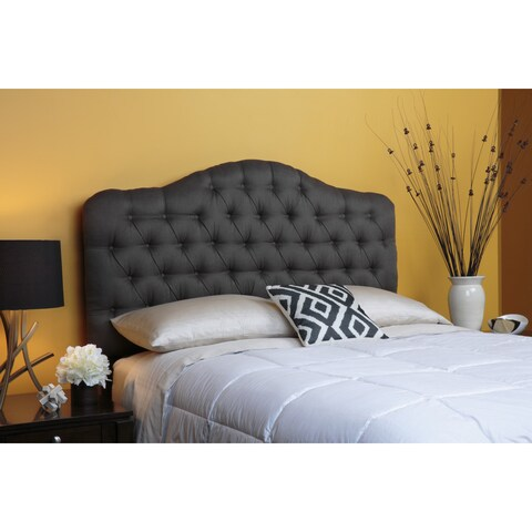 Saint Lucia Upholstered Adjustable Headboard in Charcoal
