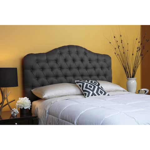 Leggett & Platt Saint Lucia Upholstered Adjustable Headboard in Charcoal