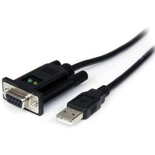 StarTech.com 1 Port USB to Null Modem RS232 DB9 Serial DCE Adapter Ca