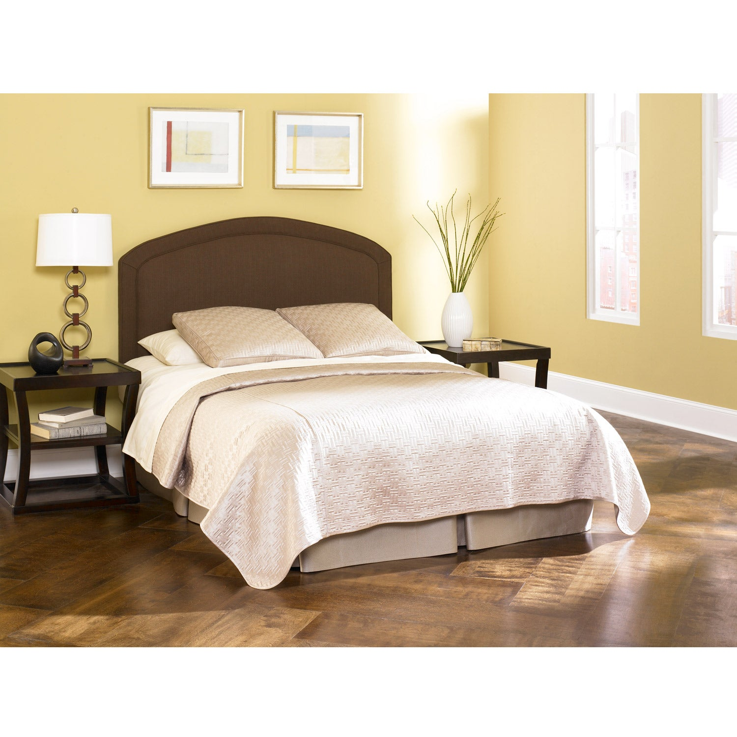 Cherbourg deep chocolate upholstered king cal king size California king headboard
