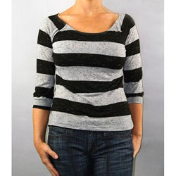 Institute Liberal Women's Striped 3/4-Length Knit Top