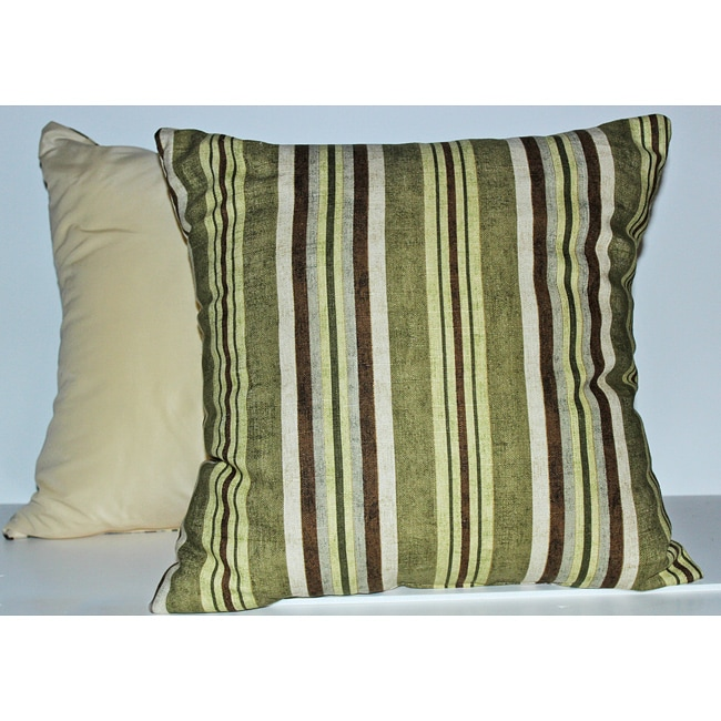 Alton Stripe Lime Decorative Pillows (set of 2)