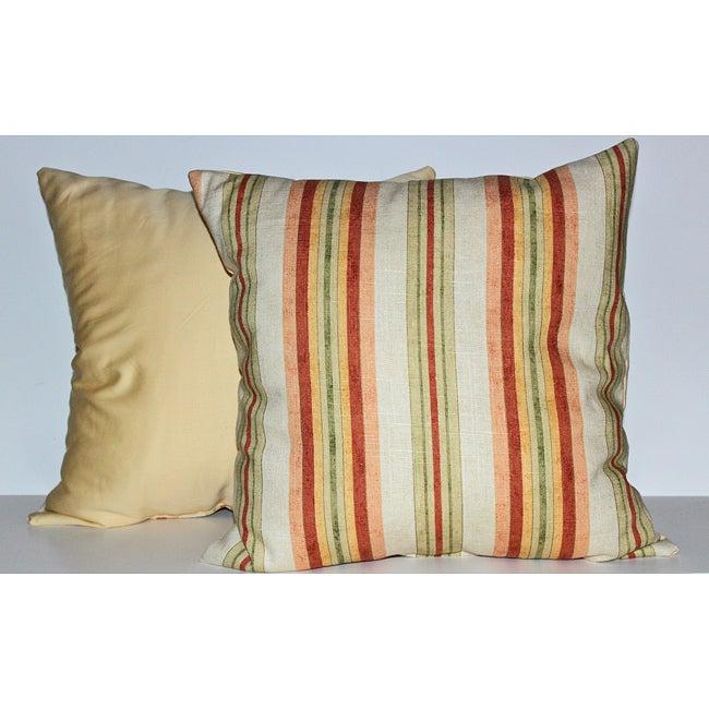 Alton Stripe Watermelon Decorative Pillows (set of 2)
