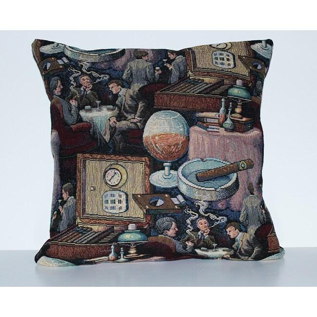 Tobacco Shop Decorative Pillow