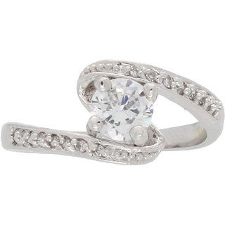 NEXTE Jewelry Solitaire Center Stone with Swirling White Accent Stones
