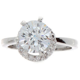 NEXTE Jewelry Center Stone Solitaire with Moving Obiting Halo Accent