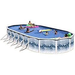 Yorkshire 24-foot All-in-1 Above Ground Swimming Pool Kit - Thumbnail 0