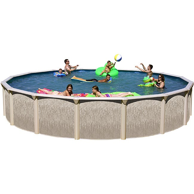 Shop Galveston Dune Wall 24 Foot All In 1 Above Ground Swimming Pool Kit Free Shipping Today