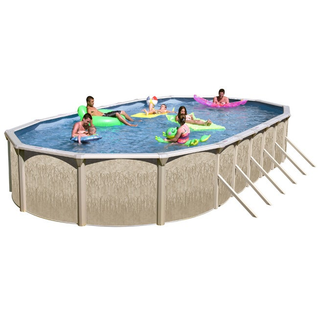 Shop galveston 24 foot all in 1 above ground swimming pool - Swimming pools above ground for sale ...