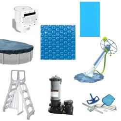 Galveston 24-foot All-in-1 Above Ground Swimming Pool Kit - Thumbnail 1