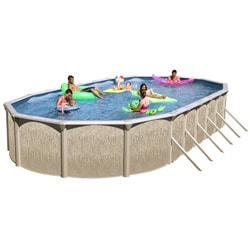 Galveston 24-foot All-in-1 Above Ground Swimming Pool Kit - Thumbnail 0