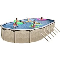 Galveston 33-foot All-in-1 Above Ground Swimming Pool Kit - Multi