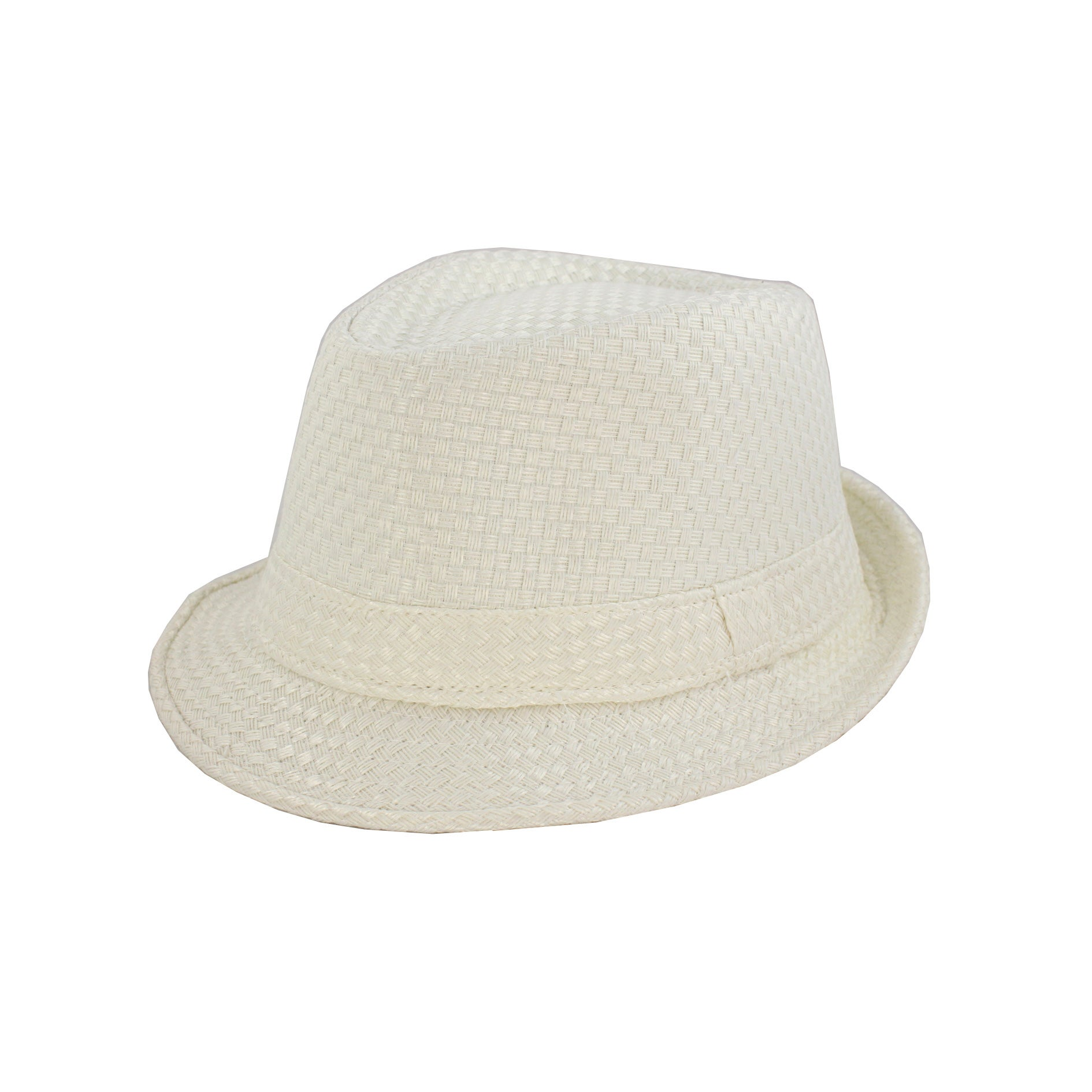 73e2207e9c2 Shop Faddism Men s Cream  White Woven Fedora Hat - Ships To Canada ...