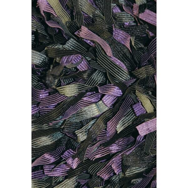 Hand Woven Padma Violet Shag Rug (5'0 x 7'6)