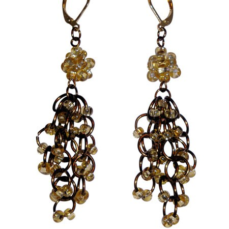 Handmade Chandelier Chain Maille Earrings (USA)