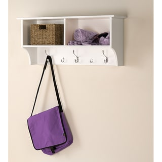 Winslow White 36 inch Wide Hanging Entryway Shelf