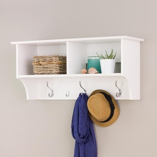Winslow White 36-inch Wide Hanging Entryway Shelf