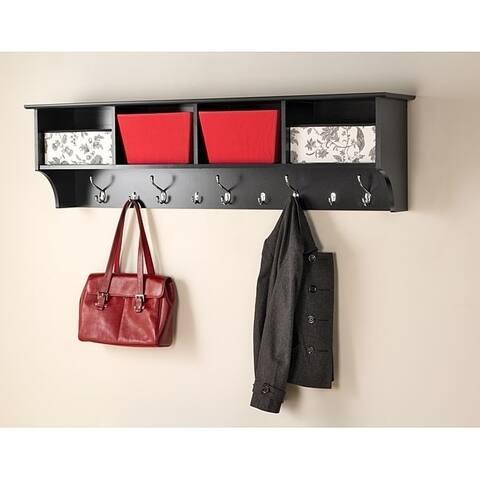 Porch & Den Hewitt Black 60 inch Wide Hanging Entryway Shelf