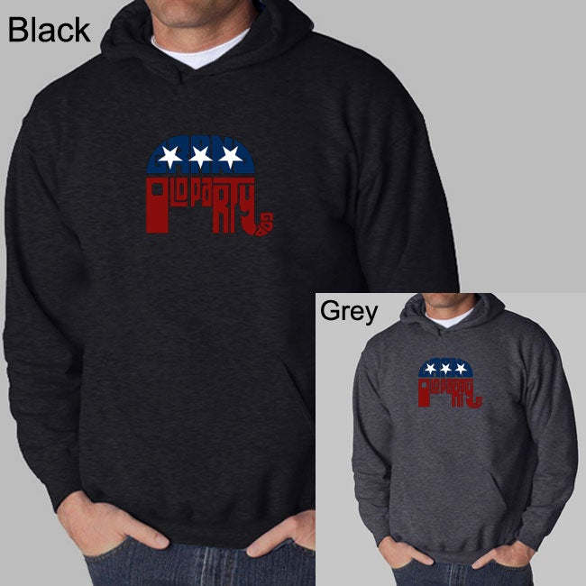 Los Angeles Pop Art Men's GOP Hoodie - Thumbnail 0
