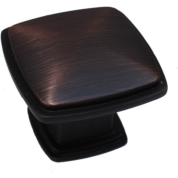 Overstock Kitchen Cabinet Hardware: Shop GlideRite 1.25-inch Oil Brushed Bronze Square Deco