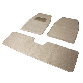 Light Beige 3-piece Floor Mats Set