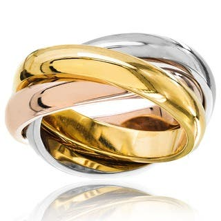 Stainless Steel Polished Tri-color Interwinded Wedding Band Ring https://ak1.ostkcdn.com/images/products/6735071/P14281186.jpg?impolicy=medium