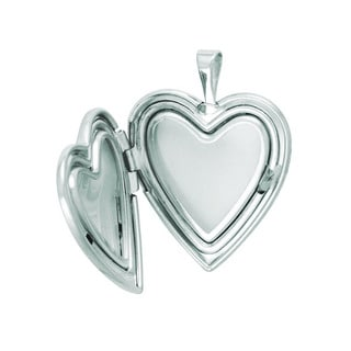 Sterling Silver Cross, Mother and Baby Heart Locket Necklace