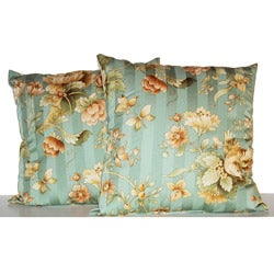 Butterfly Floral Decorative Pillows (Set of 2)