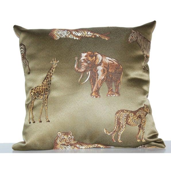 Safari Life Olive Decorative Pillow
