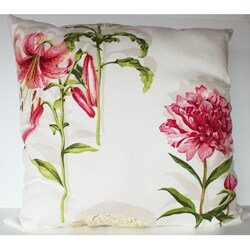 Secret Garden Cream 26x26-inch Decorative Pillow