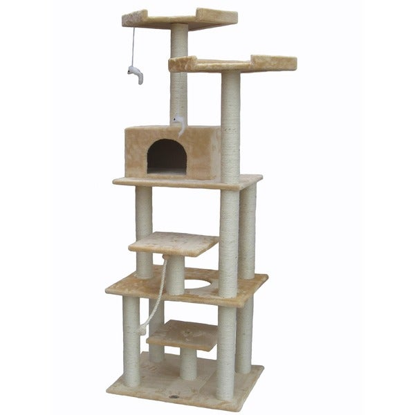 76-inch Cat Tree with Scratching Posts and Perches