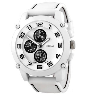 Breda Men's 'Colton' Black Accented Watch