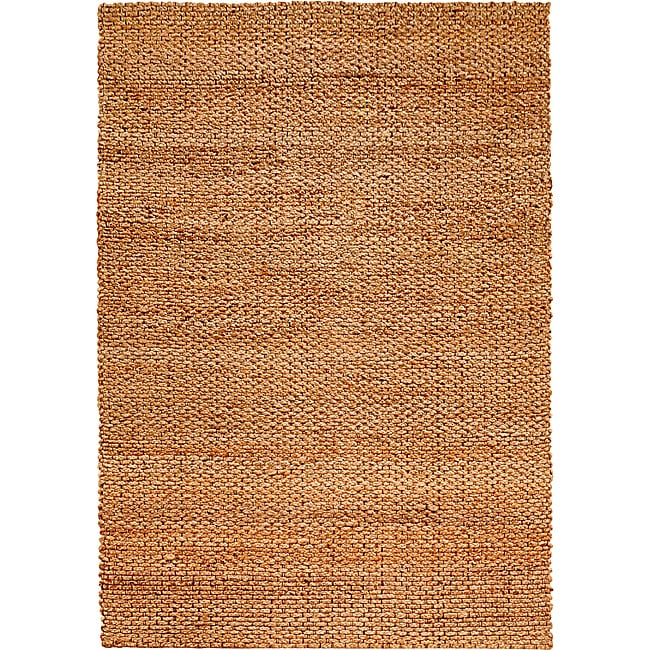 LNR Home Natural Fiber Natural Jute Braided Area Rug (9'2 x 12'6) - Thumbnail 0