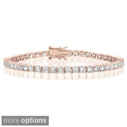 Collette Z Plated Sterling Silver Cubic Zirconia Tennis Bracelet (4 options available)