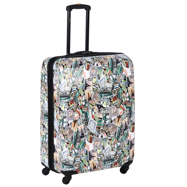 a9feaadc8 Shop Lucas 'World Tour' 28-inch Expandable Upright Suitcase - Free ...