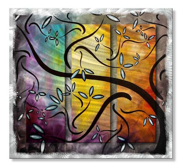 Megan Duncanson 'Sweet Blossoms II' Metal Wall Art