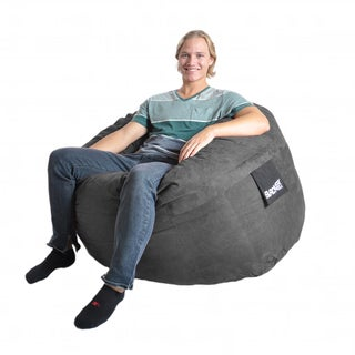 Charcoal Grey Microfiber and Foam Bean Bag