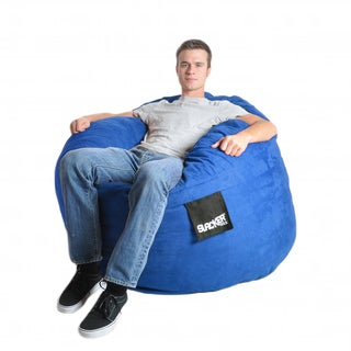 Four-foot Royal Blue Microfiber and Foam Bean Bag
