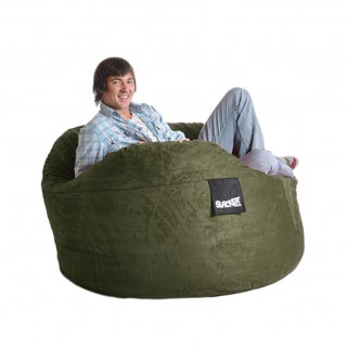 Olive Green 5-foot Microfiber and Foam Bean Bag