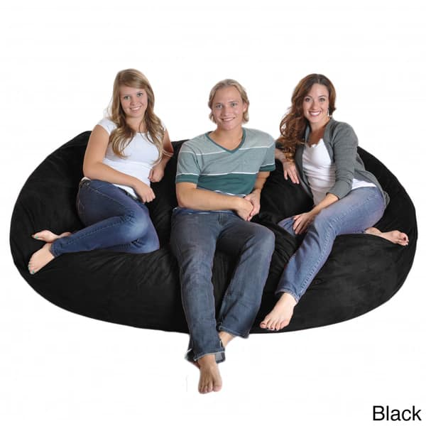 Strange Shop Eight Foot Oval Microfiber And Memory Foam Bean Bag 8 Machost Co Dining Chair Design Ideas Machostcouk
