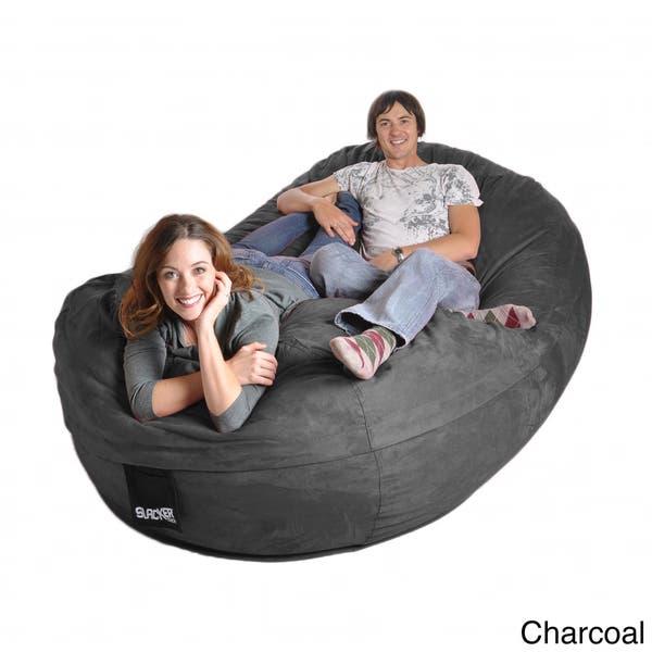 Peachy Shop Eight Foot Oval Microfiber And Memory Foam Bean Bag 8 Machost Co Dining Chair Design Ideas Machostcouk
