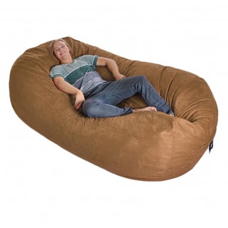 Eight-foot Oval Microfiber and Memory Foam Bean Bag - 8' (More options available)