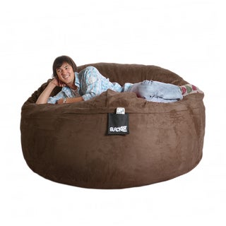 Chocolate Brown 6-foot Microfiber and Foam Bean Bag