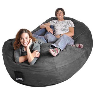 Oval 8 ft. Charcoal Grey Microsuede and Memory Foam Bean Bag|https://ak1.ostkcdn.com/images/products/6735490/P14281574.jpg?impolicy=medium